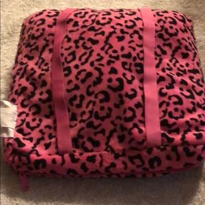 Bags - A leopard pink backpack/ neck pillow